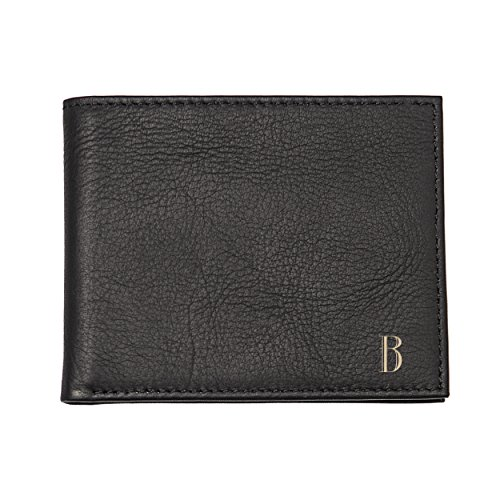 Contemporary Leather Letter - Cathy's Concepts Personalized Leather Bi-fold Wallet with Multifunction Tool, Black, Letter B