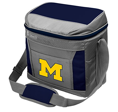 Coleman NCAA Soft-Sided Insulated Cooler and Lunch Box Bag, 9-Can Capacity, University of Michigan Wolverines