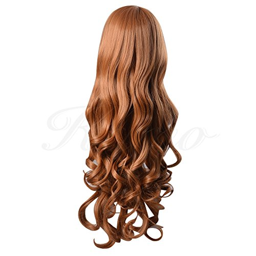 32 Inches 80cm Spiral Curly Cosplay Costume Wig (Blonde)