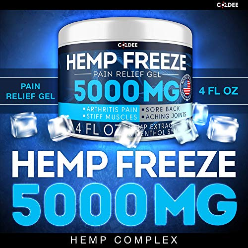 51grNGRUaeL - Coldee Pain Relief Hemp Oil Gel - 5000 MG, 4 OZ - Max Strength & Efficiency - Natural Hemp Extract for Arthritis, Knee, Joint & Back Pain - Made in USA - Hemp Cream for Inflammation & Sore Muscles