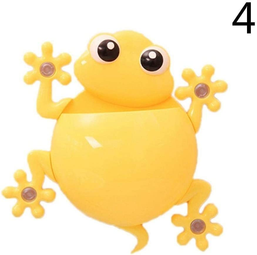 Cute Frog Bathroom Gecko Wall Toothbrush Tooth Brush Holder Suction Cup Holder S
