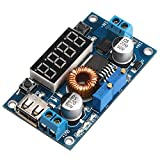 5V Buck Converter, DROK LM2596 DC Step Down Voltage Regulator 5-36V 24V 12V to 1.25-32V 5V 5A 75W Reducer Module CC CV Volt Transformer Board with LED Display, USB Output for LED Driver