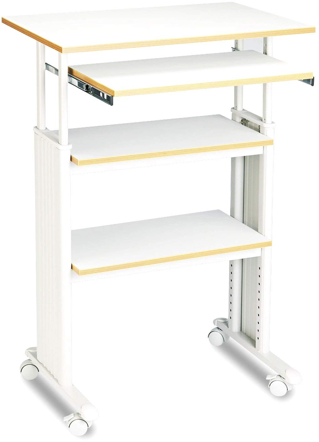 Safco Products 1929GR Muv 35-49'' H Stand-Up Desk Adjustable Height Computer Workstation with Keyboard Shelf, Gray