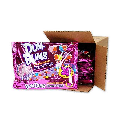Dum Dums Heart Pops 30 count bag 6s