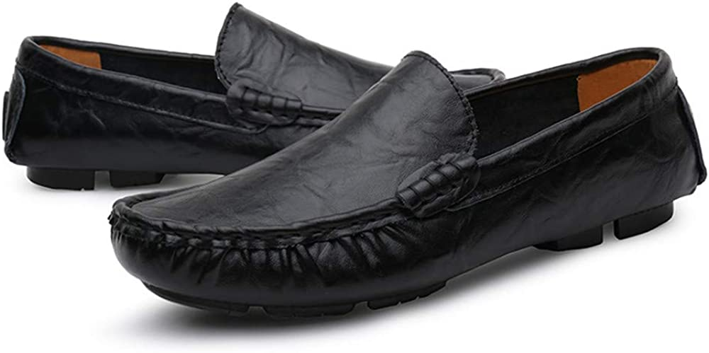 Color : Black, Size : 7.5 D US M Mens Shoes Mens Premium Genuine Leather Casual Slip on Loafers Breathable Driving Shoes Fashion