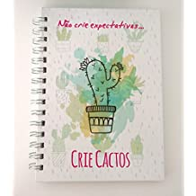 Caderno pontilhado A5 Bujo - Crie Cactos (120, Branco)