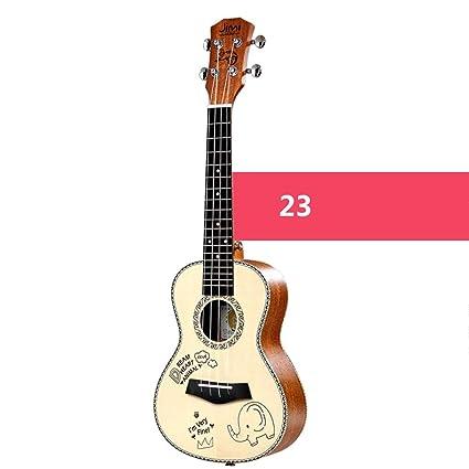 Loivrn Guitarra clásica de chapa de abeto Ukelele 21/23/26 ...