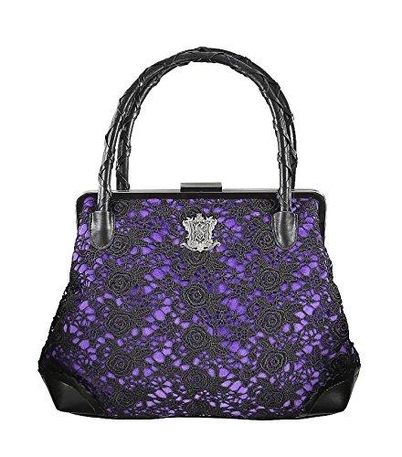 Disneyland Haunted Mansion 45th Anniversary Purple Velveteen Crocheted Black Purse - Handbag: Handbags: Amazon.com