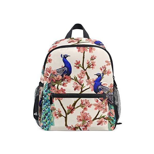 Peacock Kid Zaino Scuola Bookbag Bambini Viaggio Daypack Ragazza Ragazzo 3-8 Anni Bambino Prescolare 1 spesavip