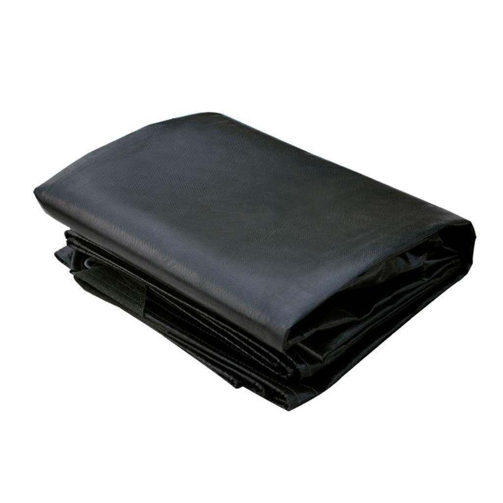 TAO Schwarzes Polyester-Sonnenschutzmittel und regendichte Plane, Outdoor-Campingabdeckung mit Metallösen, schwere Stärke 0,55 mm (größe   4x5m)