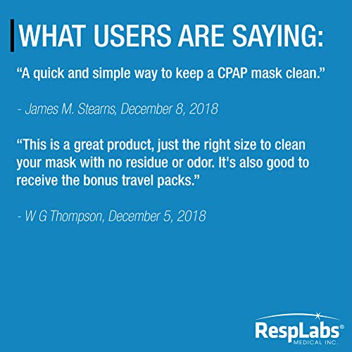 RespLabs CPAP Mask Wipes - 20 Travel Wipes