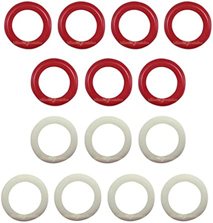 7 White /& 7 Red Set of 14 Large Bumper Pool Table Rubber Bumper Rings
