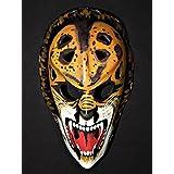 1:1 Custom Vintage Fiberglass Roller NHL Ice Hockey Goalie Mask Helmet Gilles Gratton The Lion HO32