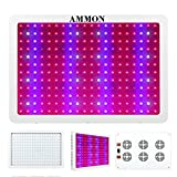 AMMON LED Grow Light, 2400W Double Chips Full Spectrum Grow Light Kit Greenhouse Hydroponic Indoor Medicinal Plant Lamp(10W 240LEDs)