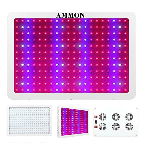 AMMON LED Grow Light, 2400W Double Chips Full Spectrum Grow Light Kit Greenhouse Hydroponic Indoor Medicinal Plant Lamp(10W 240LEDs) For Sale