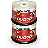 Magnavox 100-disc DVD+R 16x Logo Top (2 x 50pk Spindle)