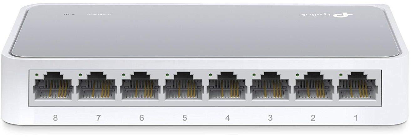 TP-Link 8 Port Fast Ethernet Switch | Desktop Ethernet Splitter | Ethernet Hub | Plug and Play | Fanless Quite | Unmanaged (TL-SF1008D)