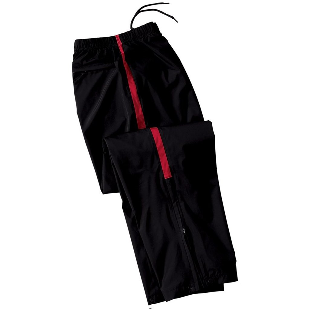 Holloway Youth Micron Sable Pant (Small, Black/Scarlet)