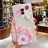 Cocomii Cute Armor Galaxy A8+ Plus 2018 Case New [Feels So Good in Hand] Pretty 3D Pattern Relief Silicone Shockproof Bumper [Slim] Cover for Samsung Galaxy A8+ Plus 2018 (C.Watercolor Flowers)
