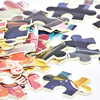 Hasde Jigsaw Puzzles 1000 Pieces Large Puzzles for Adults Adult Puzzles Difficult Candy House Puzzle Landscape Style Gifts DIY Mural Painting Entertainment Toy (F): Toys & Games