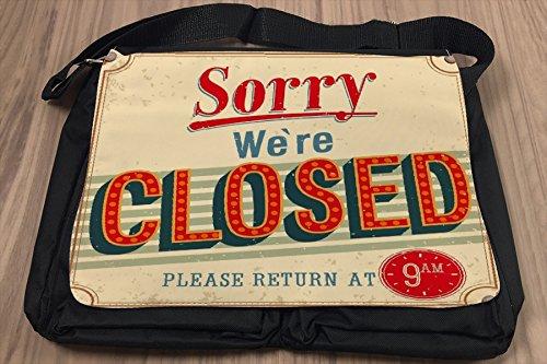 Borsa Tracolla Retro Ci dispiace siamo chiusi Stampato