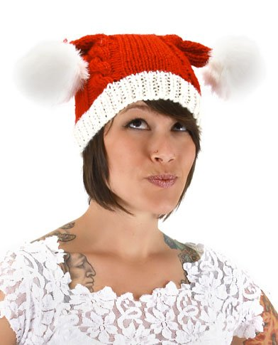 elope Knit Santa Hat, Multi-Colored, One Size ()