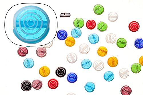 Glass beads, mix color base with white circular stripes, 8mm round plate. sold per 36cm string/pack (2pack bundle), SAVE $1 - 8mm Round Venetian Lampwork Bead