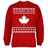 team canada sweater - Old Glory Canadian Canada EH Ugly Christmas Sweater Mens Sweatshirt Red 2XL