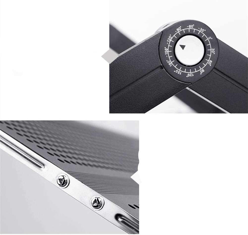 XCBW Fold Multi-Functional Laptop Stand Joint 360 Degree Rotation Angle Aluminum Alloy to Adjust The Tabletop Anti-Skid Strip Design Panel Ventilation
