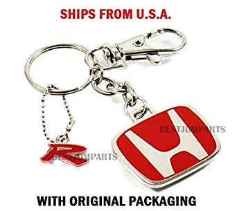 Rare Genuine JDM Honda Type R Red H Key Chain 2 door 4 door