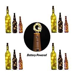 10 LED Bulbs Cork Lights Battery Powered (12 pcs) - 39 Inch Long String Wine Bottle Cork Fairy Lights for Bottle DIY, Table Decorations, Christmas, Wedding, Dancing, Halloween, Party, Festival Decor