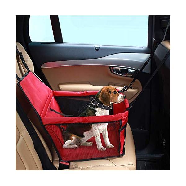 IvyLife Auto-Hundesitz für Kleine Hunde oder Katzen Transporttasche verstellbar aus Oxford-Stoff Wasserdicht…