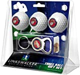 US Marines - 3 Golf Ball Gift Pack with Key Chain Bottle Opener