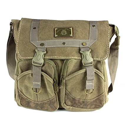 Amazon.com  Olive Drab Canvas Messenger Bag - great for commuters ... fbf9d9f143a
