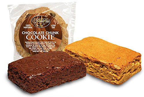 Simply Scrumptous Low Carb Double Fudge Brownie and Low Fat Cookie