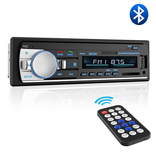 Car Stereo with Bluetooth,Valoin 2018 Latest Single Din Bluetooth Car Stereo Receiver MP3 Player/USB/SD Card/AUX Car Radio with Remote Control (Black)