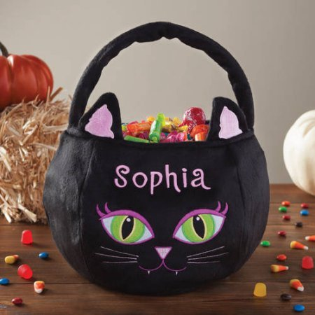 [Personalized Halloween Basket Black Cat] (Best Nerd Girl Halloween Costume)