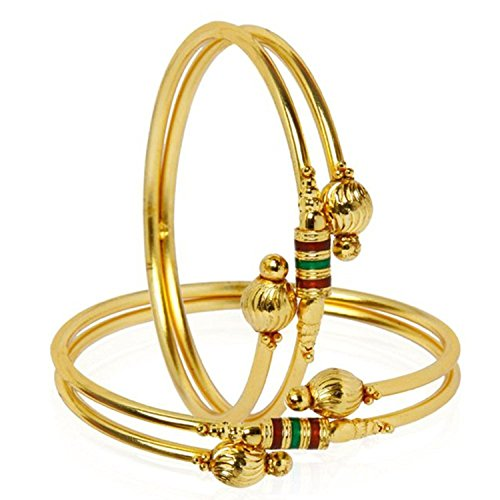 YouBella Jewellery Traditional Gold Plated Bracelet Bangle Set For Girls and Women (2
