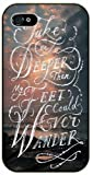 Take me deeper than my feet could ever wander - Sea and clouds - Bible verse iPhone 4 / 4s black plastic case / Christian Verses