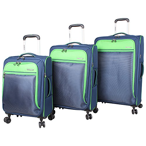 ciao-3-piece-lightweight-expandable-luggage-sets-with-spinner-wheels-green