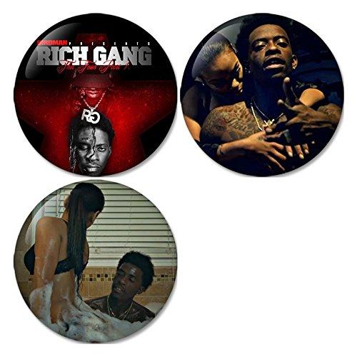 Rich Gang, Rich Homie Quan : Milk Marie Pinback Buttons Badges/Pin 1.25 Inch (32mm) Set of 3 New