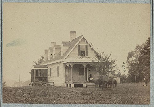 1861 Photo Haxalls House  Used As Hospital After Battle Of White Oak Swamp H
