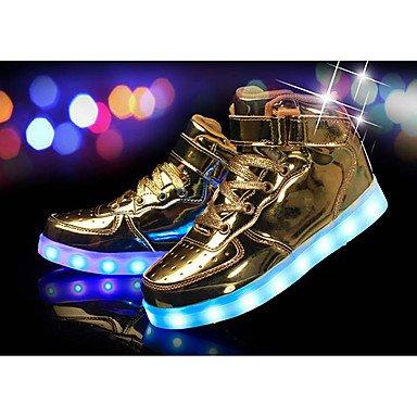 bianco Kids nero Little UK1 da Athletic argento PU Aemember US2 oro calzature Up Light rosso EU33 ragazza Flat invernale comfort scarpe Heelled 1R6H4qW