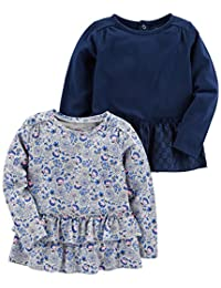 Simple Joys by Carter's Girls 2-Pack Long Sleeve Tops T-Shirt