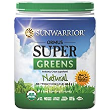 Sunwarrior Ormus Super Greens Natural, Superfood Powder 8 oz.