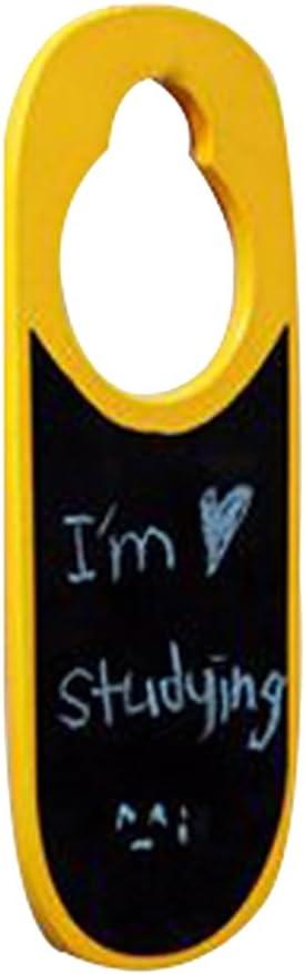 CW/_ Mini Double-sided Wooden Blank Blackboard Door Knob Hanger Sign Warning Tag