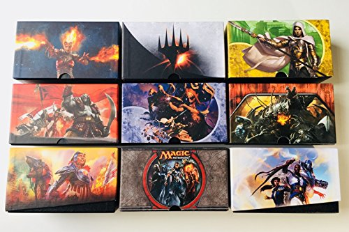 Set of 3 Empty Random Magic: the Gathering MTG Fat Pack Bundle Boxes for Storage