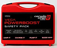 Vega Vpbpak 12000 Mah Powerboost Safety Pack All In One Case Power Tire Pump Battery Jump Starter Power Cell Dual Usb Charging Ports For Electronics