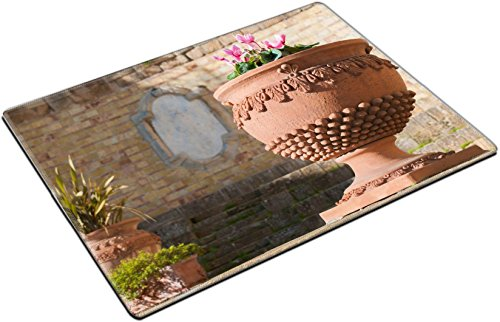 - MSD Place Mat Non-Slip Natural Rubber Desk Pads Design: 34993031 Typicsal Terracotta vase of Caltagirone as an Ornament in a Little Square of The Town