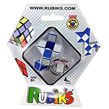 Rubik's Twist Transformable Snake Puzzle Keychain 100% Official Rubik's Cube White/Blue
